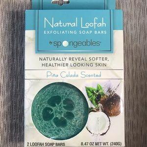 Natural Loofah Exfoliating Soap Bars